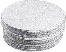 50 pièces 7 pouces oxyde d'aluminium blanc