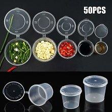 50 Pièces Jetables Saucière En Plastique À