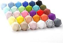 50 pièces Perles de dentition en Silicone sans