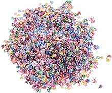 5000pcs Coloré Nail Art Tranches Conseils Argile