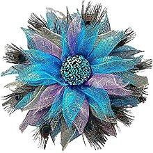 50cm Artificielle Plume De Paon Guirlande Colorée