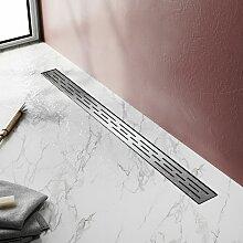 (50cm) Inox, Siphon de canal de douche avec