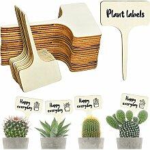 50Pcs Étiquettes de Plantes Durables, T-Type