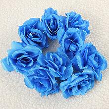50pcs Fleur Rose Artificielle Simulation Soie