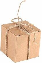 50pcs Mini boîte de faveur carrée de cadeau de