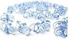 50pcs Transparent Acrylique Mini Sucette Petite