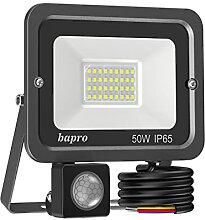 50W LED Strahler mit Bewegungsmelder 3000K