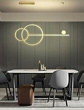 50W Moderne LED Suspension Anneau Doré Luminaire