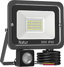 50W Projecteur LED avec Détecteur,5000LM Spot