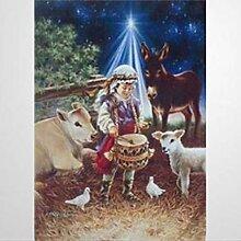 558975 _ Fanion de Noël religieux pour crèche de