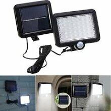56 LED Applique Solaire Mur Lumière Éclairage