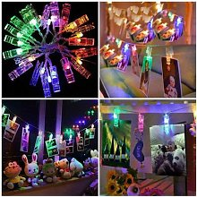 5M 10M LED Photo Clip Guirlandes Guirlande