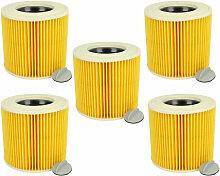 5x Cartouche filtrante pour aspirateur, robot