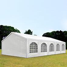 5x10 m tente de réception, PE 240 g/m², H. 2m,