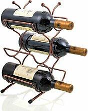 6 bouteilles de porte-bouteilles de vin