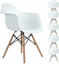 6 Chaises de Salle à Manger avec Fauteuil design