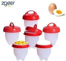 6 Cuit Oeufs Pocheuse Silicone - Oeuf Cuisson Egg