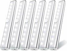 6 Feux de capteur de Mouvement LED, 10 Lampes à