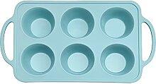 6 grille silicone moules de moules de cupcake de