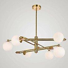 6-lumières Créativité Molécule Lustre Moderne