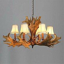 6 lustre américain branche lustre bois de cerf