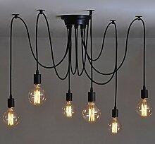 6 pcs Luminaire Suspension-Style Européen Moderne