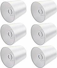 6 pièces Clip bougie abat-jour, E14 vis tissu