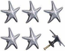 6 Pièces étoile De Mer Bouton Plage Océan