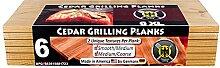 6 Planches à griller pour barbecue en bois de