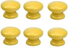 6 Style simple jaune poignée ronde tiroir commode