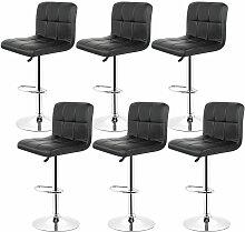 6*tabourets de bar chaise fauteuil 6 treillis noir