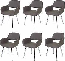 6 x chaise de salle à manger HHG-455, design