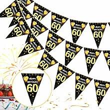 60 Ans Deco Anniversaire,60e Joyeux Anniversaire