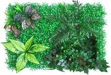 60x40cm Haie Artificielle Plante Verte Panneau de