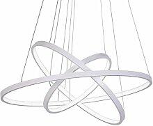 65W LED 3 Anneaux Suspension, Moderne Circulaire
