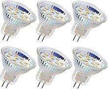 6pcs ampoule LED MR11 ampoule de projecteur GU4