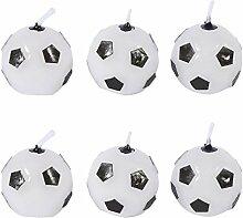 6Pcs Bougies en Forme de Ballon de Football Mignon