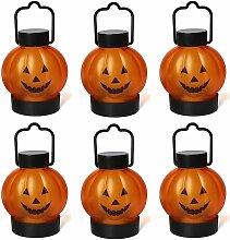 6pcs Halloween Lanterne Potiron Portatif