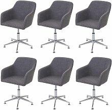 6x chaise de salle à manger 834, fauteuil