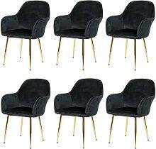 6x chaise de salle à manger HHG-240, chaise de