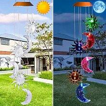 7 couleurs LED carillons solaires solaires et