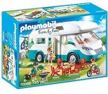 70088 playmobil famille et camping-car 70088
