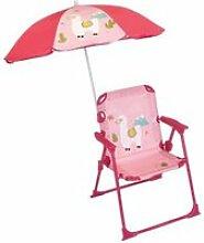713142 lola lama chaise pliable avec parasol pour