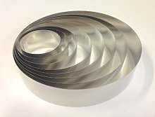 8 Cercles inox à pâtisserie, diamètre de 80 à
