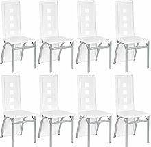 8 chaises cuisine salle à manger chaise Blanc -