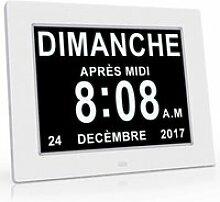 8    LCD Horloge Numérique Calendrier avec Date,