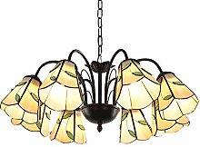 8 Lumières Lustre Tiffany Style Pétrole Frotté