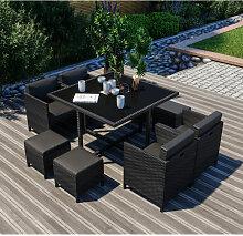 8 Places - Ensemble encastrable salon / table de