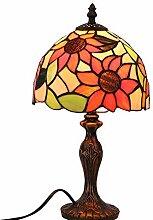 8 Pouces Tiffany Style Lampe de Table Tournesol