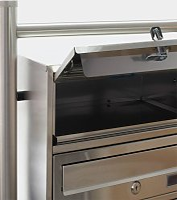8 Système de boîte en acier inoxydable bacs à
